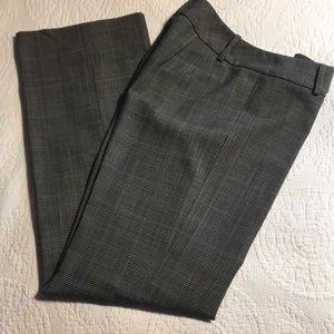And Taylor gray plaid wool dress pants.